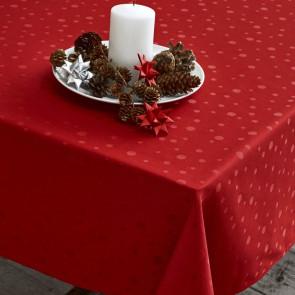 Dot 140 x 270 cm - Juna Damask dug, rød juledug