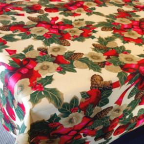 Juledug Kristtjørn, akryldug med teflon, 140 cm bred