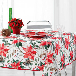 La Rosiere White - Juledug med anti-plet, 150 x 300 cm