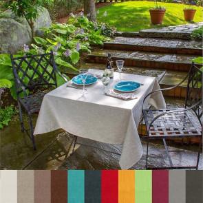 Ensfarvet hørdug - Ensfarvet dug i 100% hør coated med akryl og teflon