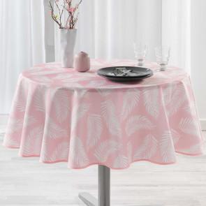 Lifette Pink Ø 180 cm, rund dug med anti-plet