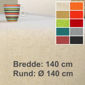 Lino 140, ensfarvet akryldug, hør bomuld, 140 cm bred eller rund Ø 140 cm