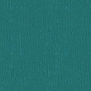 Ensfarvet hørdug med akryl og teflon - petrol