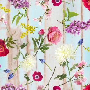 Lisanne, præget voksdug med skønne blomster, 140 cm bred