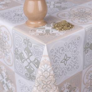 Marokkanske klinker - Rund voksdug med elastik