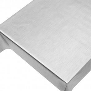 Julevoksdug - Ensfarvet voksdug metallic sølv