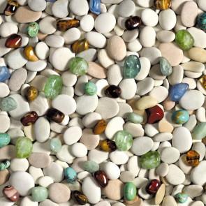 Voksdug Mix Stones, 140 cm bred