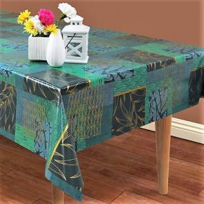 Mønstermix - Voksdug i blålige og grønlige farver og guld