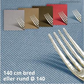 Morissot 140, ensfarvet vævet akryldug