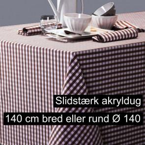 Patinir ternet akryldug brun, 140 cm