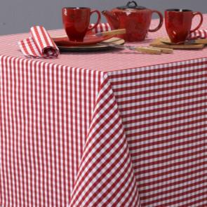 Patinir, ternet akryldug rød - 180 cm bred