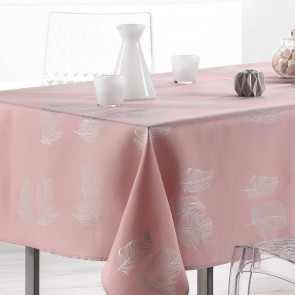 Plumia Candy Pink, dug med anti-plet, 150 x 300 cm