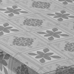 Pompeya, klar plast halv gennemsigtig voksdug i sølv og hvid