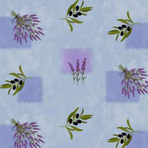 Provence voksdug - Oliven og Lavendel Misty Blue