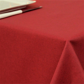 Ensfarvet akryldug rød - Dali 160 cm bred