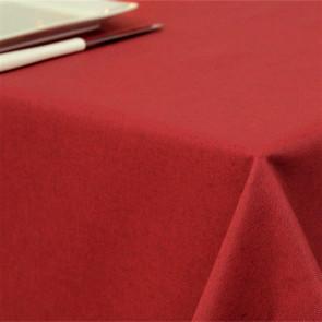 Ensfarvet akryldug rød - Dali 180 cm bred