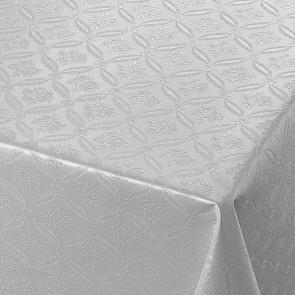 Rose Tapestry Grey, grå damask præget voksdug