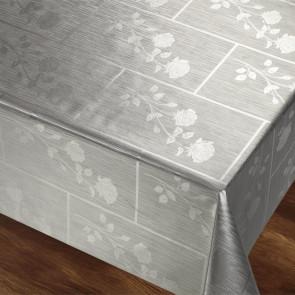 Rosenbue Sølvgrå Rektangulær, voksdug 140 cm bred