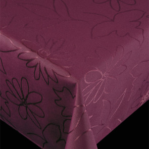 Royal Flowers Lilla - Jacquard vævet akryldug med elegant mønster