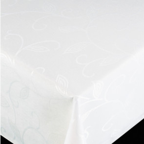 Elegant akryldug i hvid, 140cm bred