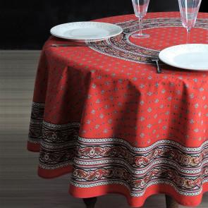 Galon Rød - rund provencedug Ø 180 cm