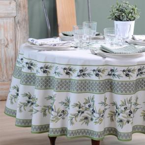 Garance Olive - rund provencedug Ø 180 cm