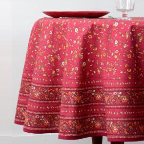 Gentiane Rød - rund provencedug Ø 180 cm