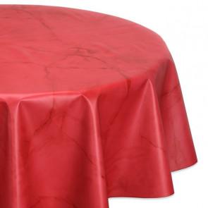 Rund voksdug Ø 140 cm - Marmol rød