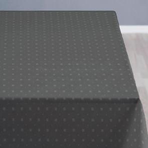 Södahl Squares Grå, klassisk damaskvævet akryldug med antiskrid