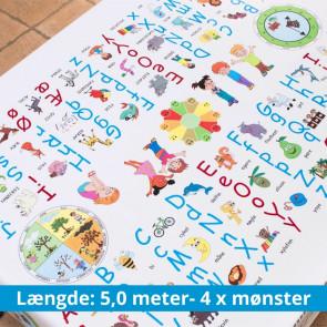 Dansk og Sociale spilleregler - 5,0 meter, 4 x mønster