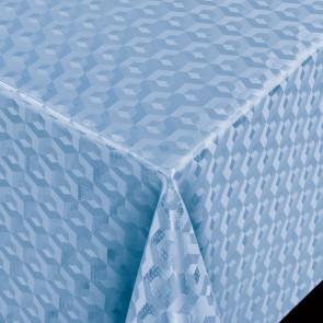 Scala 3D Cube Blue - Rund voksdug Ø 140 med kantsyning