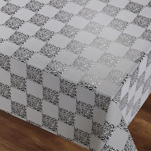 Silvery Dreams - voksdug med præget ternet mønster