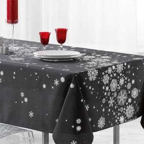 Constellation Snehimmel antracit - Juledug med anti-plet, 150 x 240 cm
