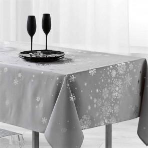 Constellation Snehimmel lys grå - Juledug med anti-plet, 150 x 240 cm