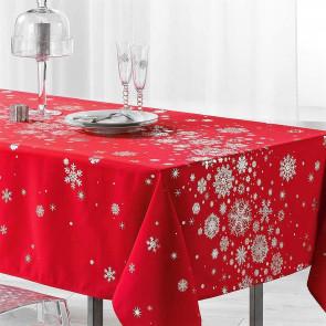 Constellation Snehimmel rød - Juledug med anti-plet, 150 x 300 cm