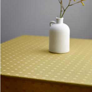 Södahl Squares Golden, klassisk damaskvævet akryldug med antiskrid