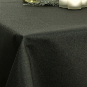 Ensfarvet akryldug sort - Dali 160 cm bred