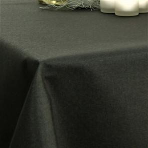 Ensfarvet akryldug sort - Dali 180 cm bred