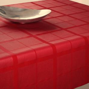 Ternet akryldug med teflon, rød, 140 cm bred.