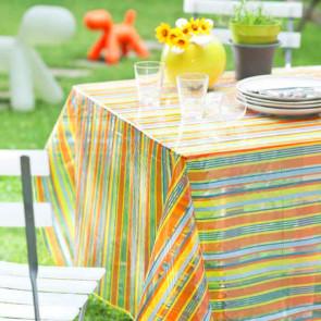 Gennemsigtig voksdug Summer Stripes
