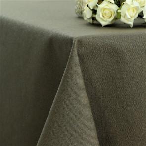 Ensfarvet akryldug taupe - Dali 160 cm bred