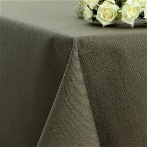 Ensfarvet akryldug taupe - Dali 180 cm bred