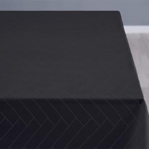 Södahl Tiles Ash mørkegrå, klassisk damaskvævet akryldug med antiskrid