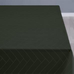 Södahl Tiles Forest green mørkegrøn, klassisk damaskvævet akryldug med antiskrid