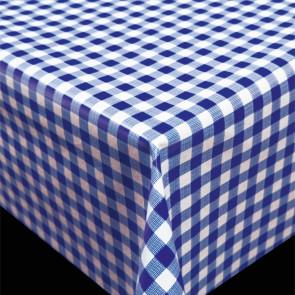 rend Little Square Blue -  blå og hvid ternet pvc fri voksdug