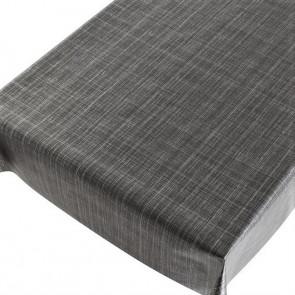Tweed antracit, voksdug med præget overflade