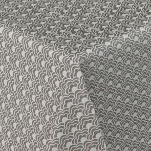Velvet Sky Grå - Rund voksdug med elastik