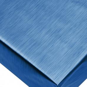 Metallic Blå - ensfarvet voksdug i metal look