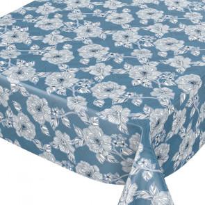 Blomster dot Blomst Blå, voksdug med flotte stregblomster