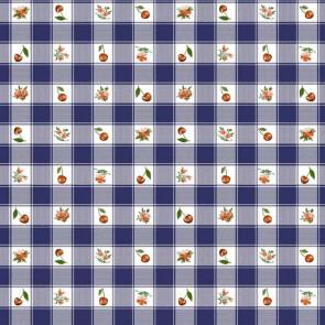 Voksdug - Cherries and Pansies Blå